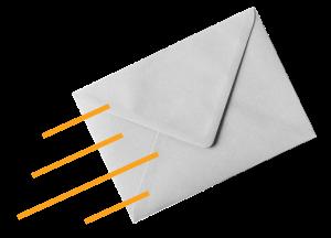 A mailing envelope