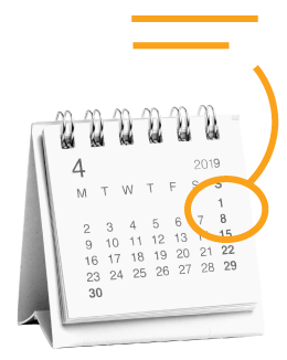 A calendar with a day circled on it